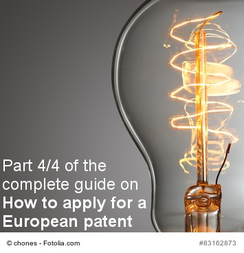 how to apply for a European patent 4/4