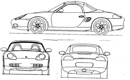 Porsche-Boxster-3D-Marke