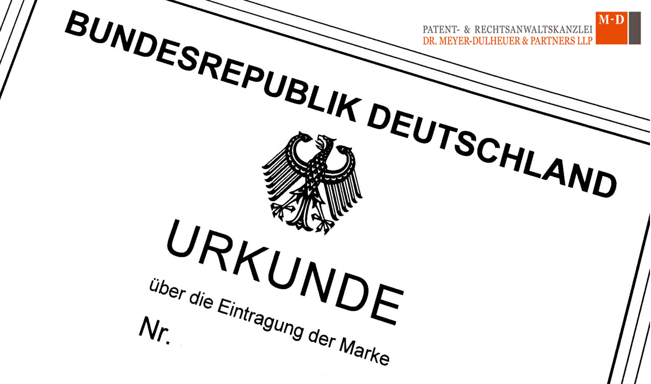Urkunde-Markeneintragung