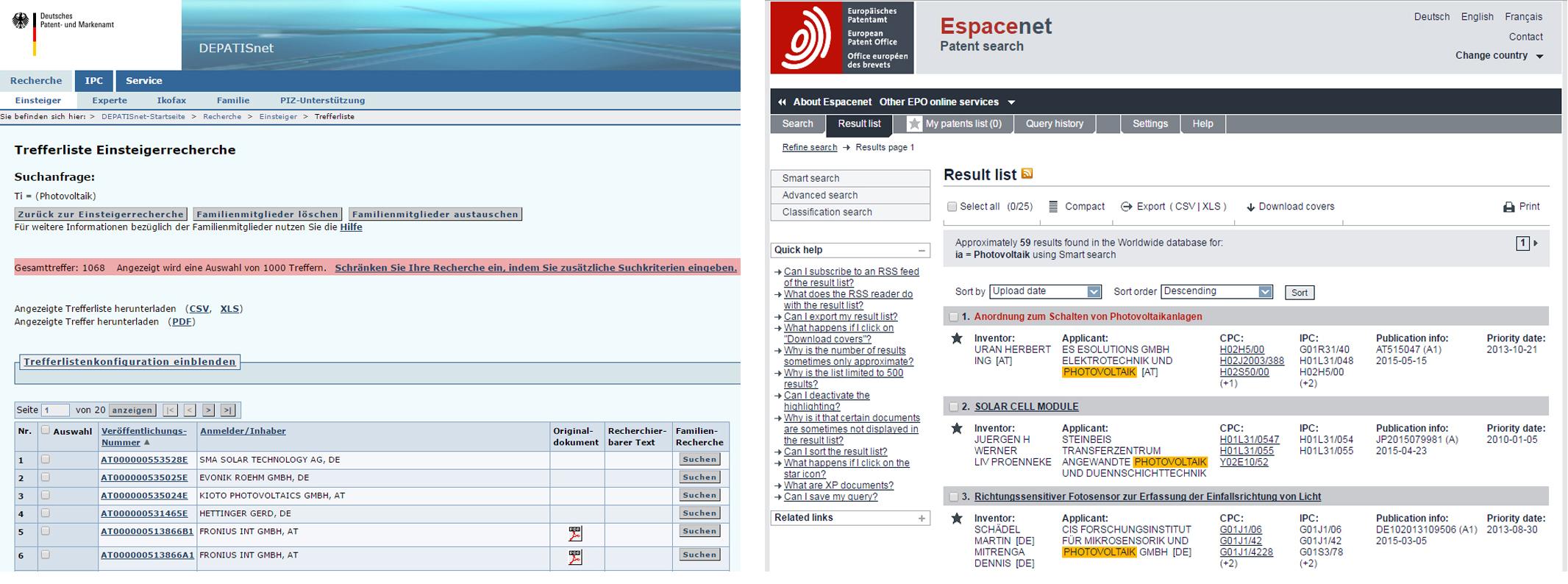 Vergleich_DEPATISnet_Espacenet_Suche