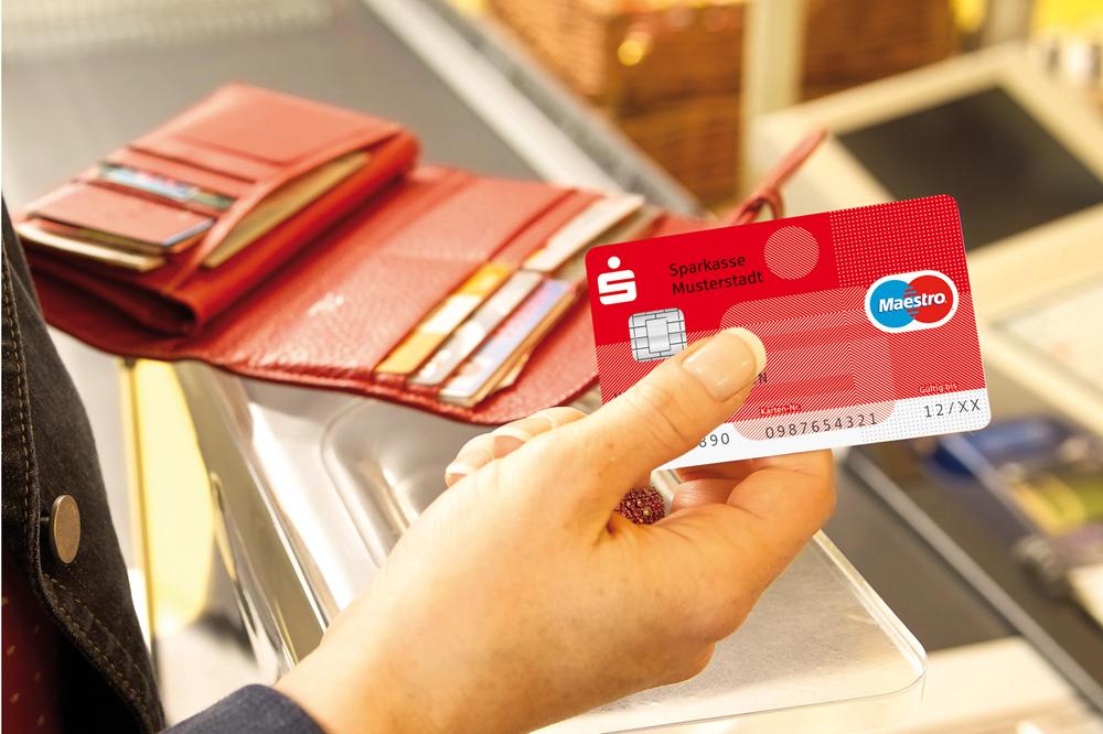 Sparkasse, Rot, Farbmarke, EC-Karte
