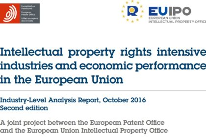 EPO/EUIPO: New study shows intellectual property is good for the European economy