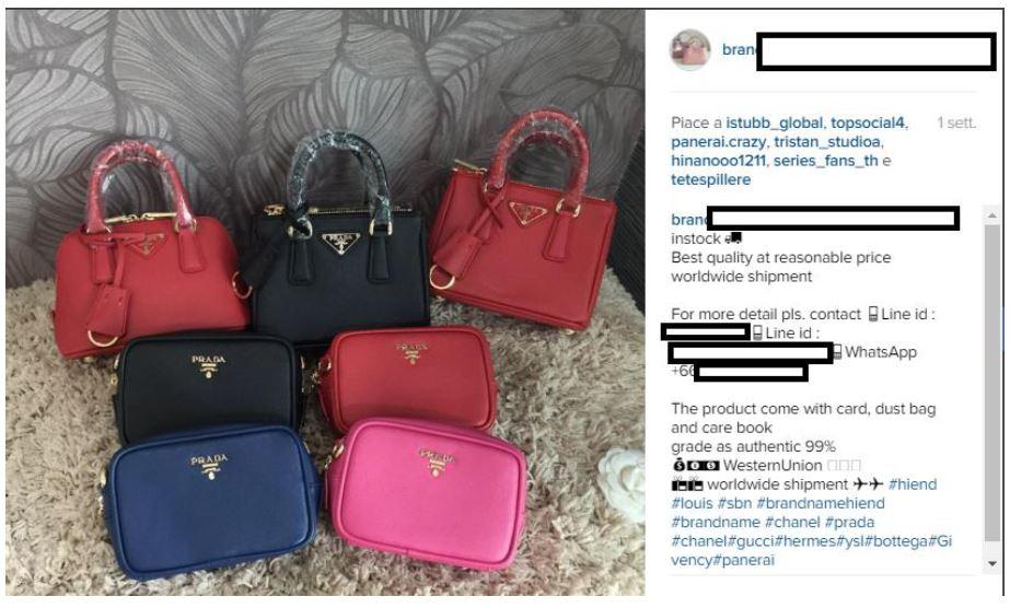 Produktpiraterie Instagram