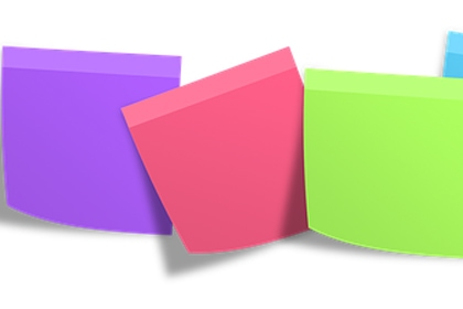 post-it polymer foam
