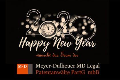Frohes und erfolgreiches Neues Jahr 2020!