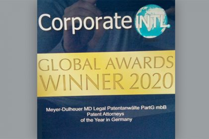 Patent Attorney of the Year in GER: our firm in the Global Awards 2020