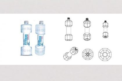Hantelform des Flaschendesigns