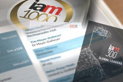 IAM Strategy 300 Global Leaders 2021: Dr Tim Meyer-Dulheuer awarded