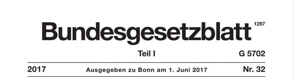 Bundesgesetzblatt Juni 2017