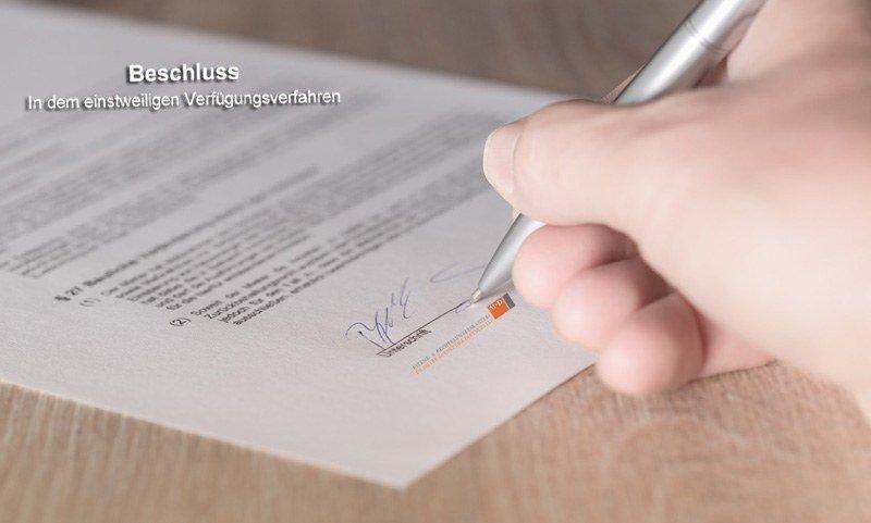 Unterschrift-Einstweilige-Verfuegung-Dokument